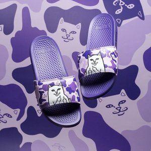 Lord Nermal Slides (Purple Camo) Mens 4 Woman 5.5